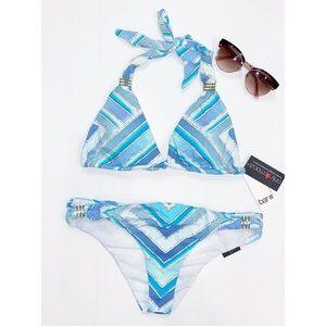 Bar III Ombré Scarf 2pc Bikini Swimsuit Small new